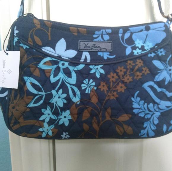 d1e98602ea NEW Vera Bradley Little Crossbody Bag Java Floral